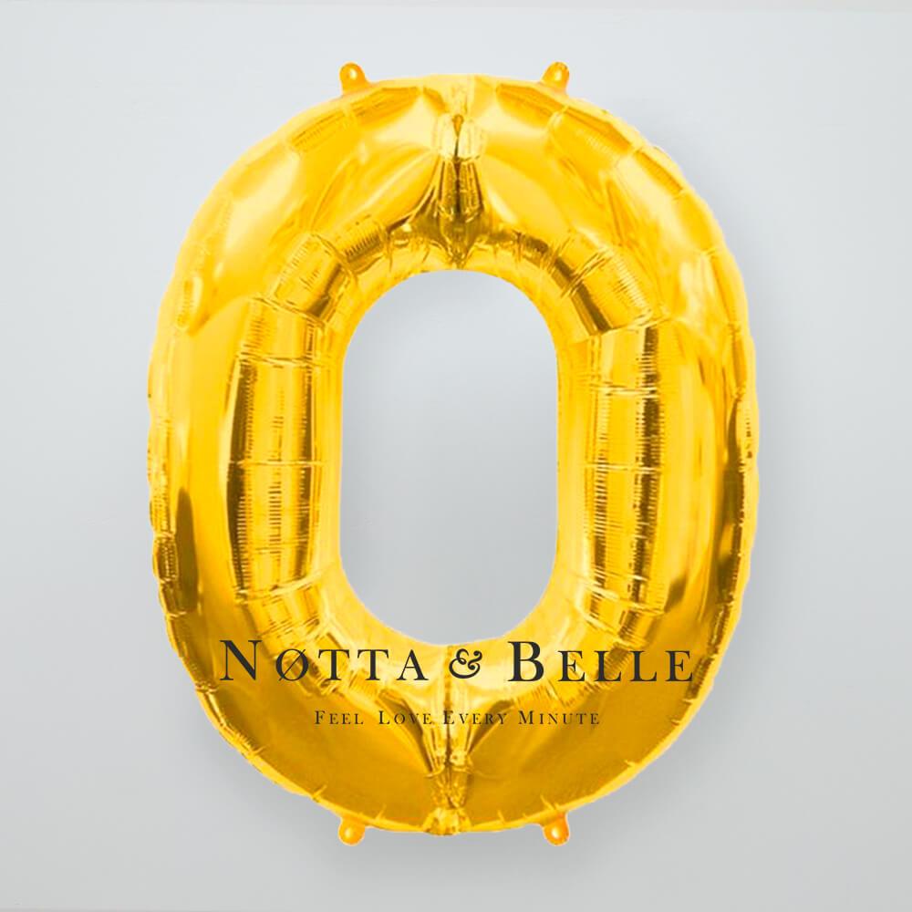 Шарик золотого цвета в виде цифры 0