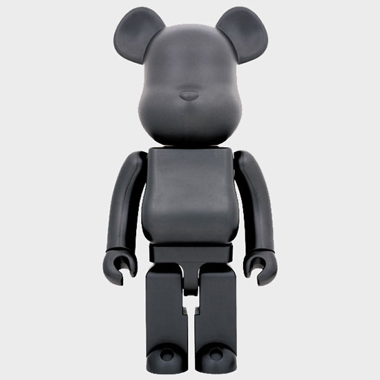 BEARBRICK BLACK MATTE 1000%