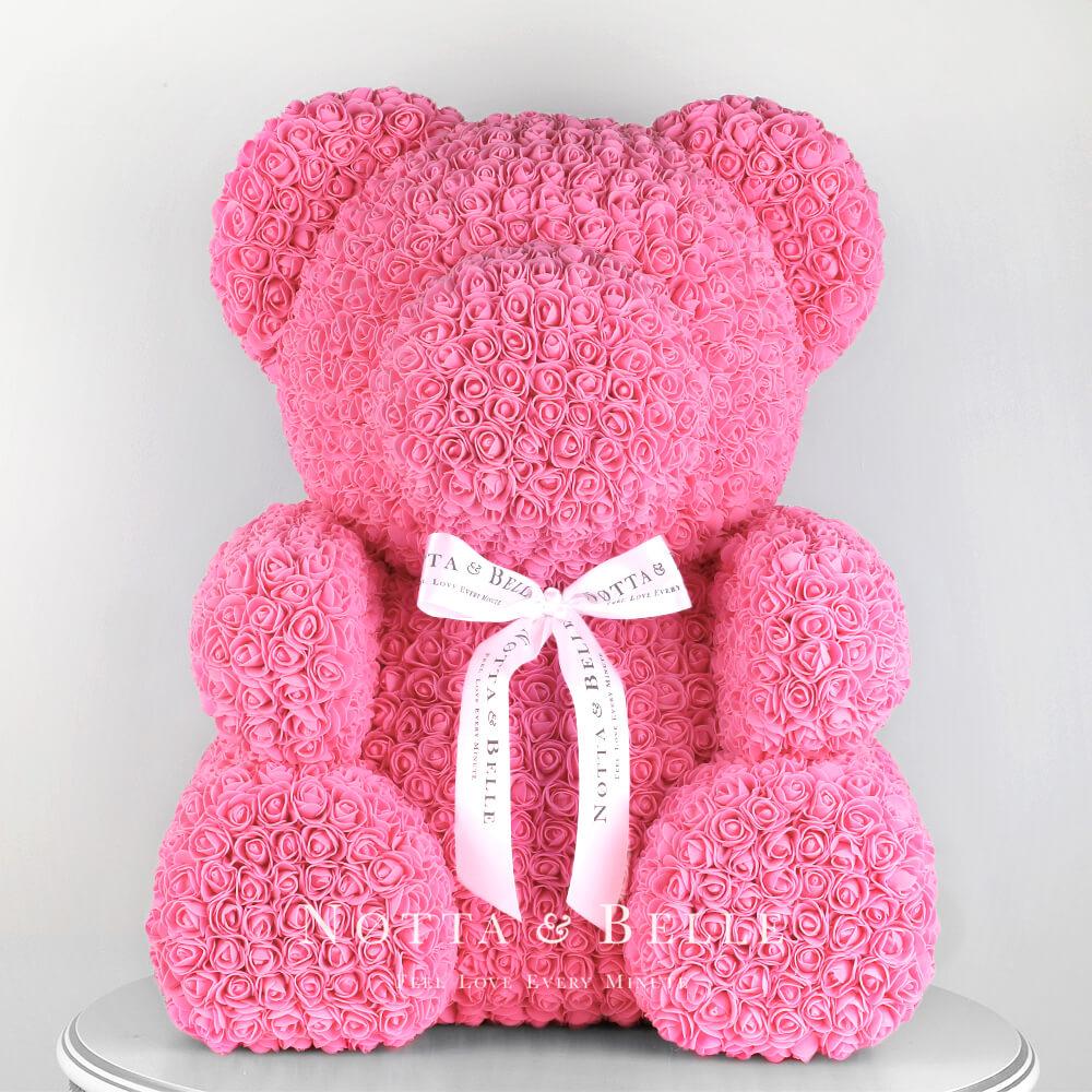 Oso de rosas rosadas – 65cm