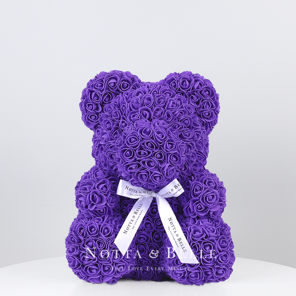 Purple Rose Bears - 14 in. (35 cm)