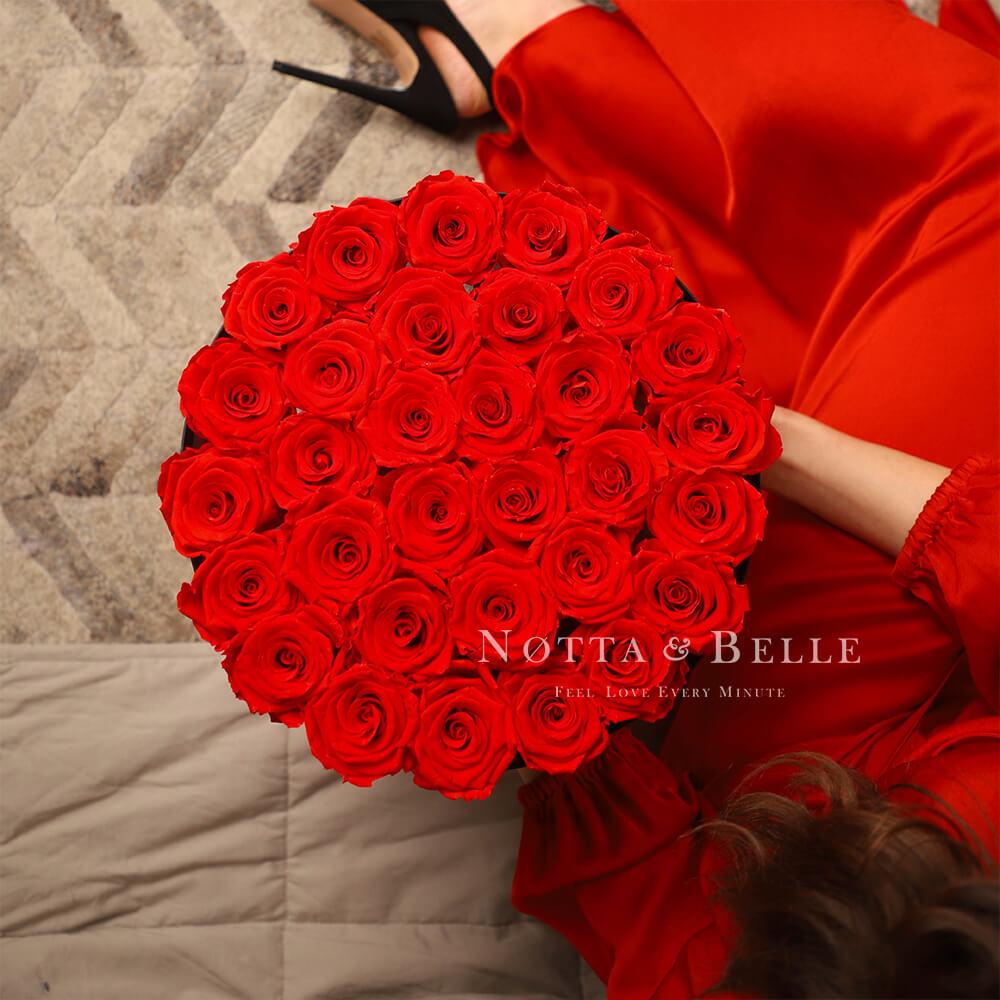 Dolgovechnyy buket iz 29 krasnyh roz - №1212