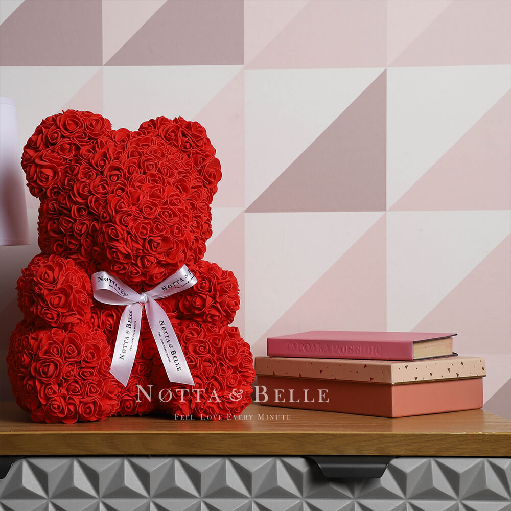 Red Rose Bears - 14 in. (35cm)