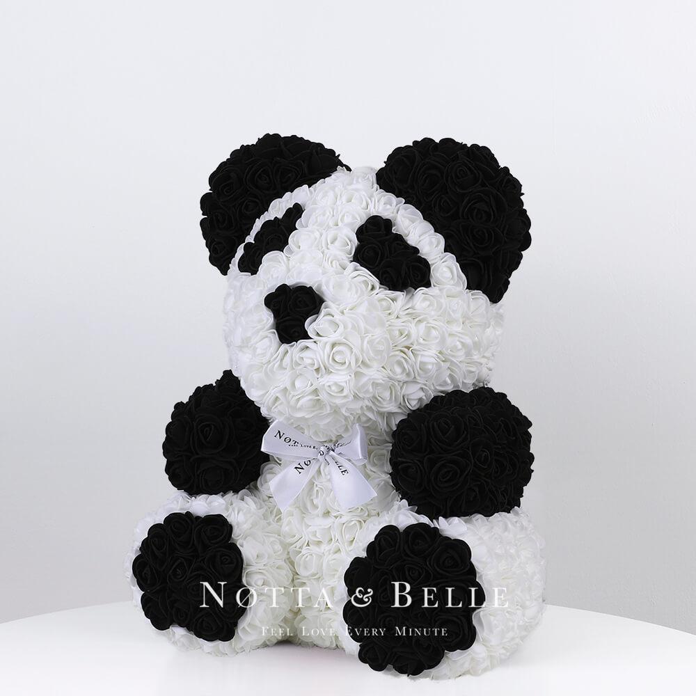 Мишка из роз Панда - 35 см