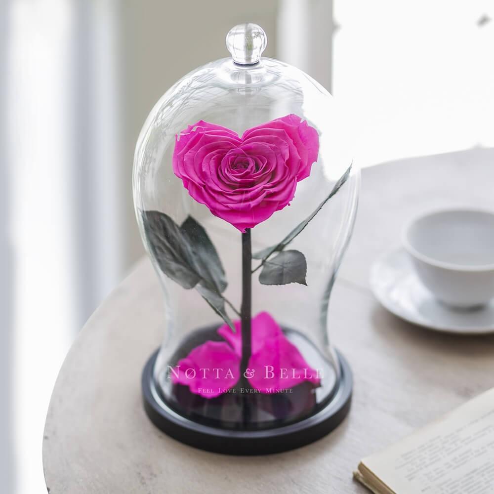 Фуксия роза Premium X в форме сердца