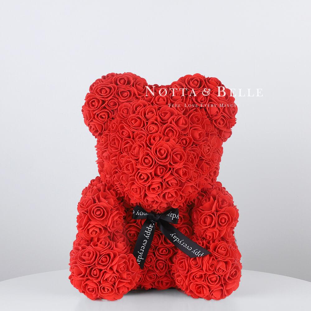 Красный мишка из роз - 35 см (Китай)