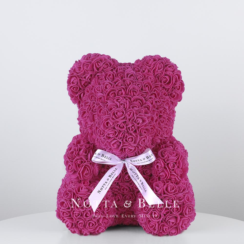 Mishka iz roz cveta Fuksii - 35 sm