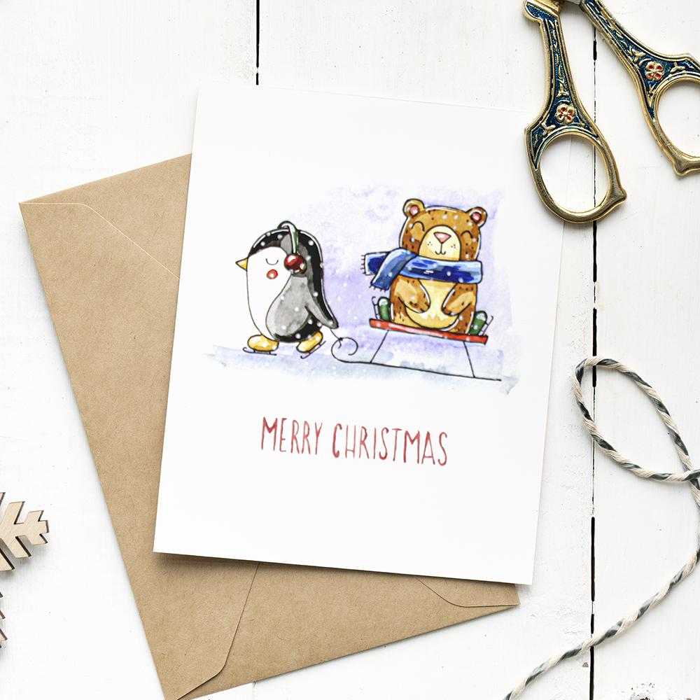 Christmas greeting card №5