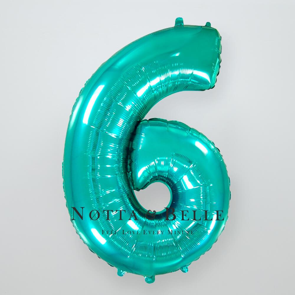 Шарик цвета тиффани в виде цифры 6