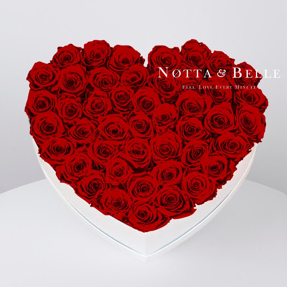 Долговечный букет из 35 бордовых роз - №061