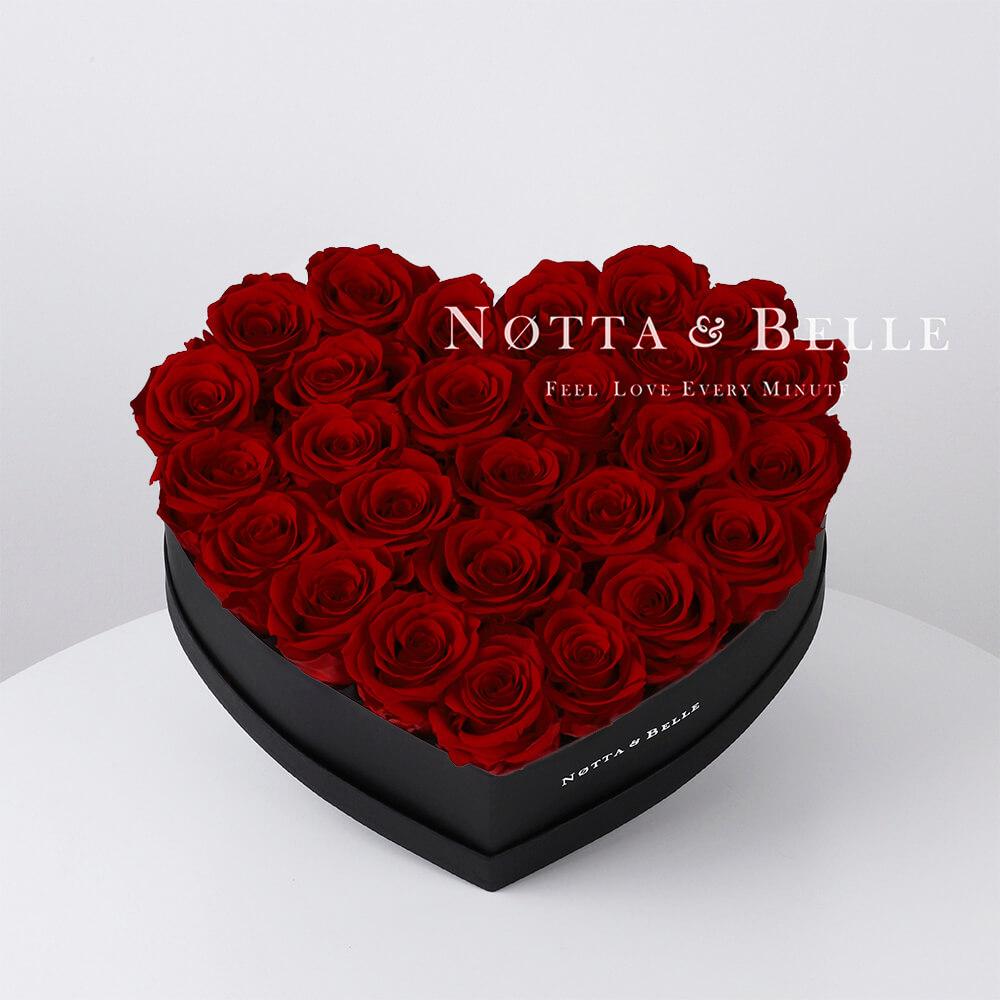 Долговечный букет из 27 бордовых роз - №962