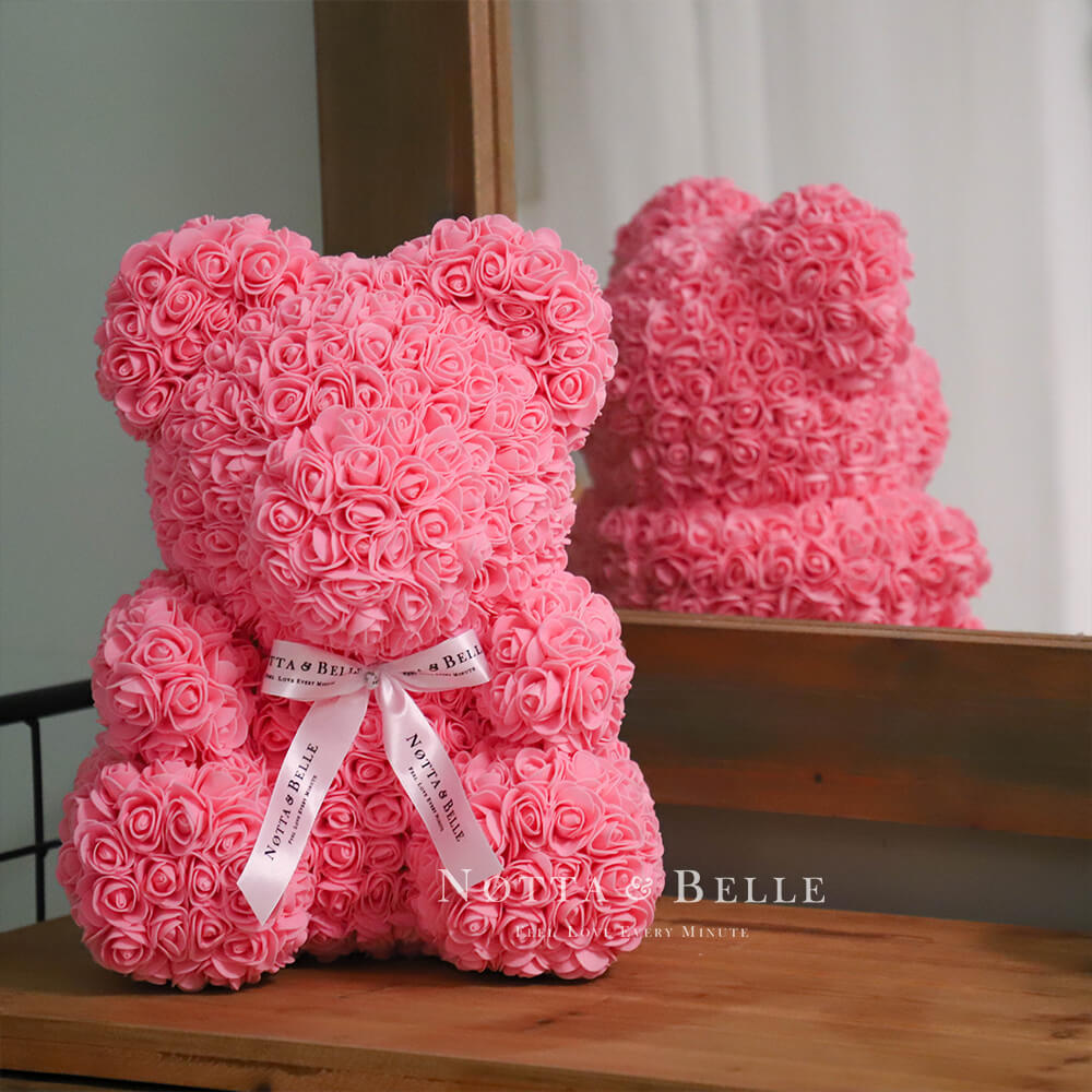 Pink Rose Bears - 14 in. (35cm)