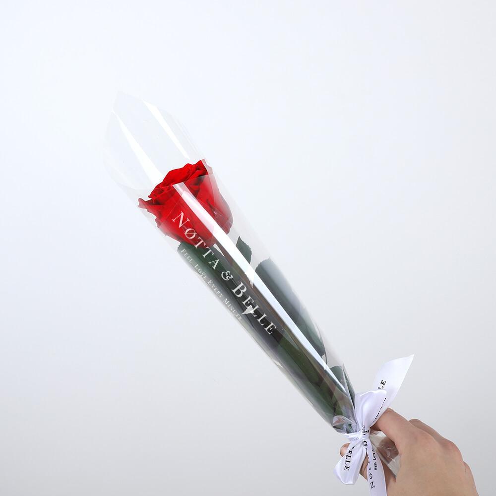 Красная роза на стебле - Mini