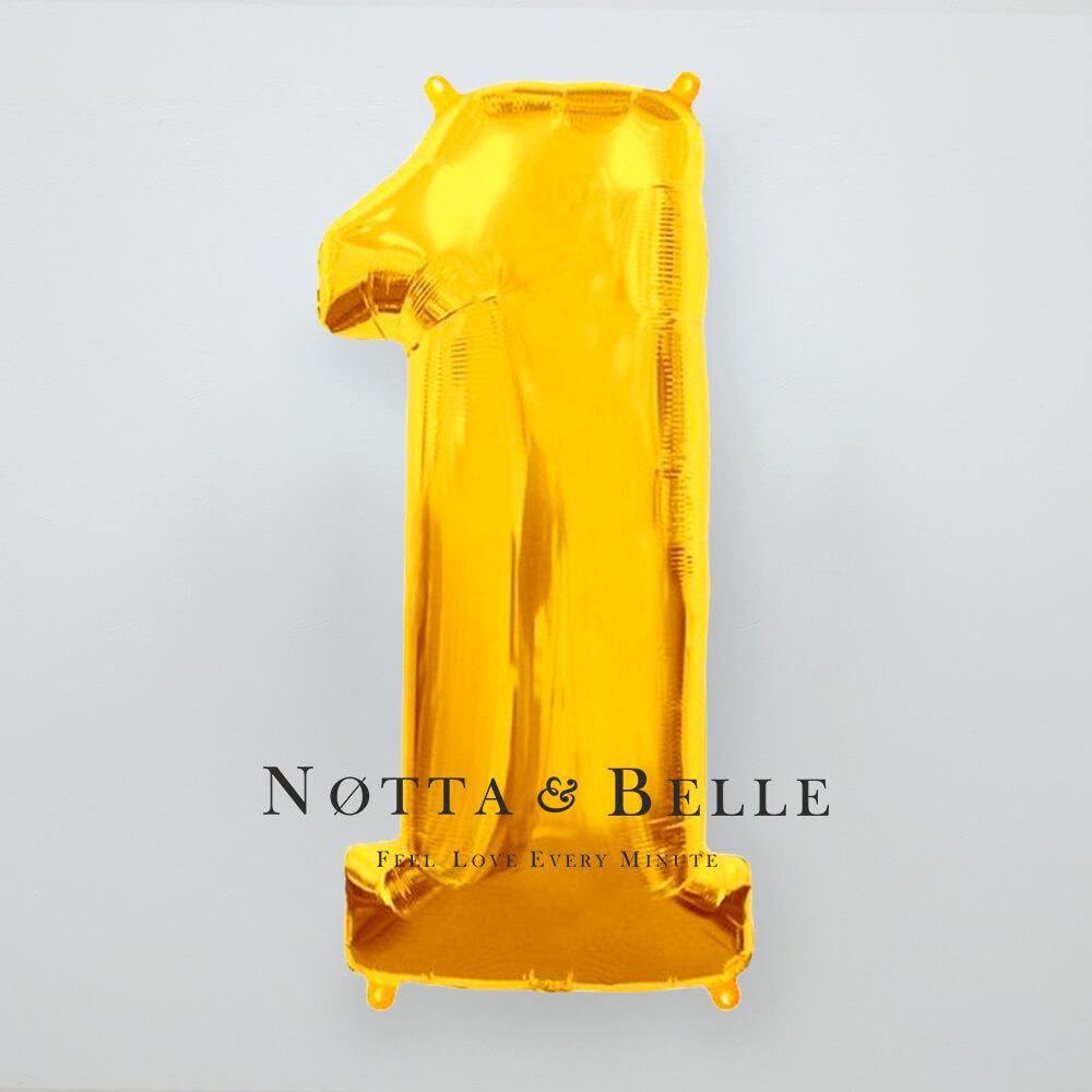 Шарик золотого цвета в виде цифры 1