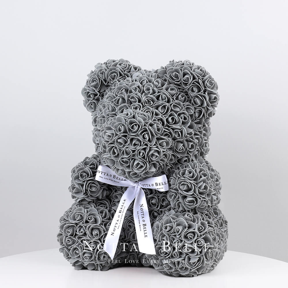 Grey Rose Bear - 14 in. (35 cm)