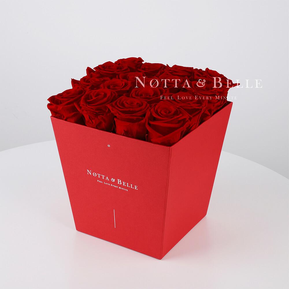 Долговечный букет из 17 бордовых роз - №264