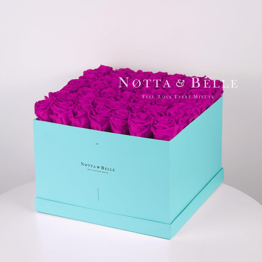 Долговечный букет из 49 роз цвета Фуксии - №773