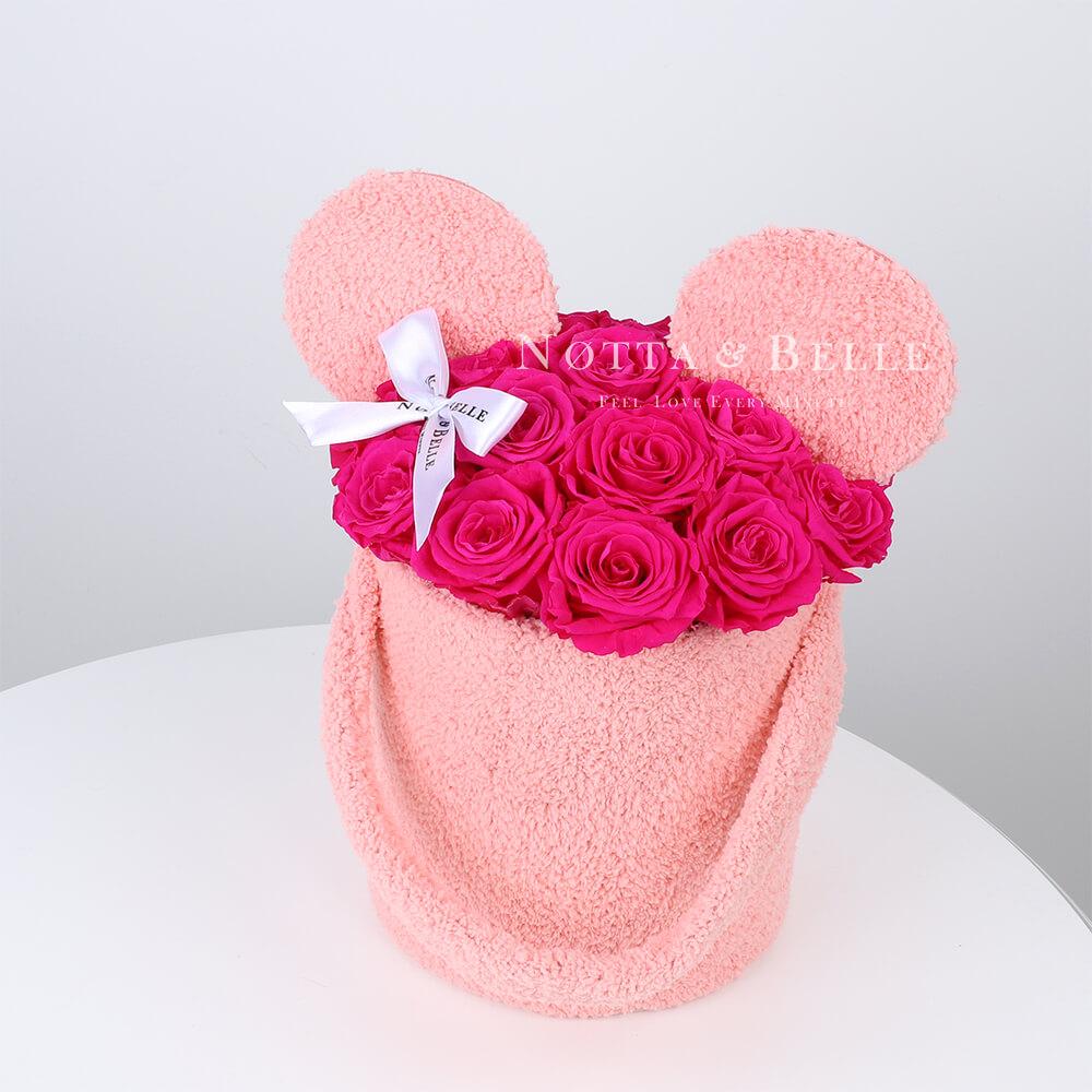 Dolgovechnyy buket iz 29 roz cveta fuksii - №1225 [copy]