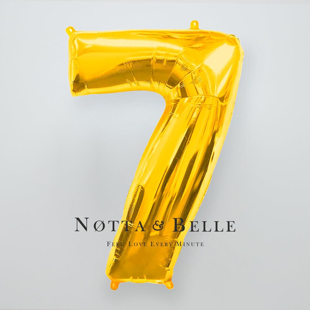 Шарик золотого цвета в виде цифры 7