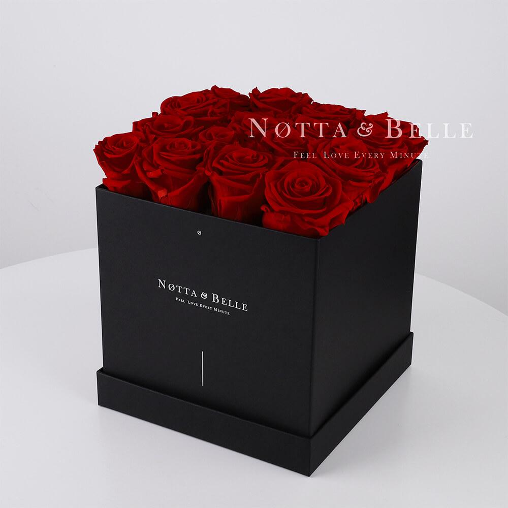 Долговечный букет из 17 бордовых роз - №462