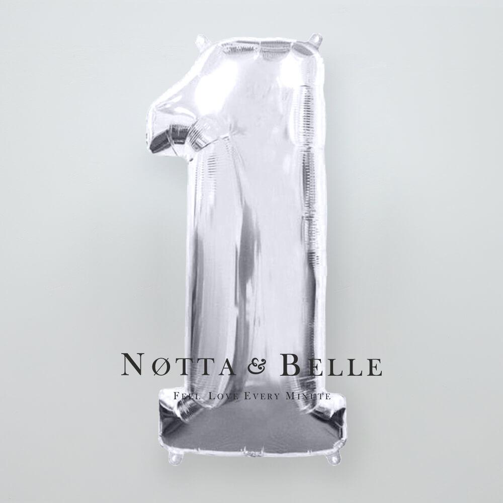 Шарик серебряного цвета в виде цифры 1