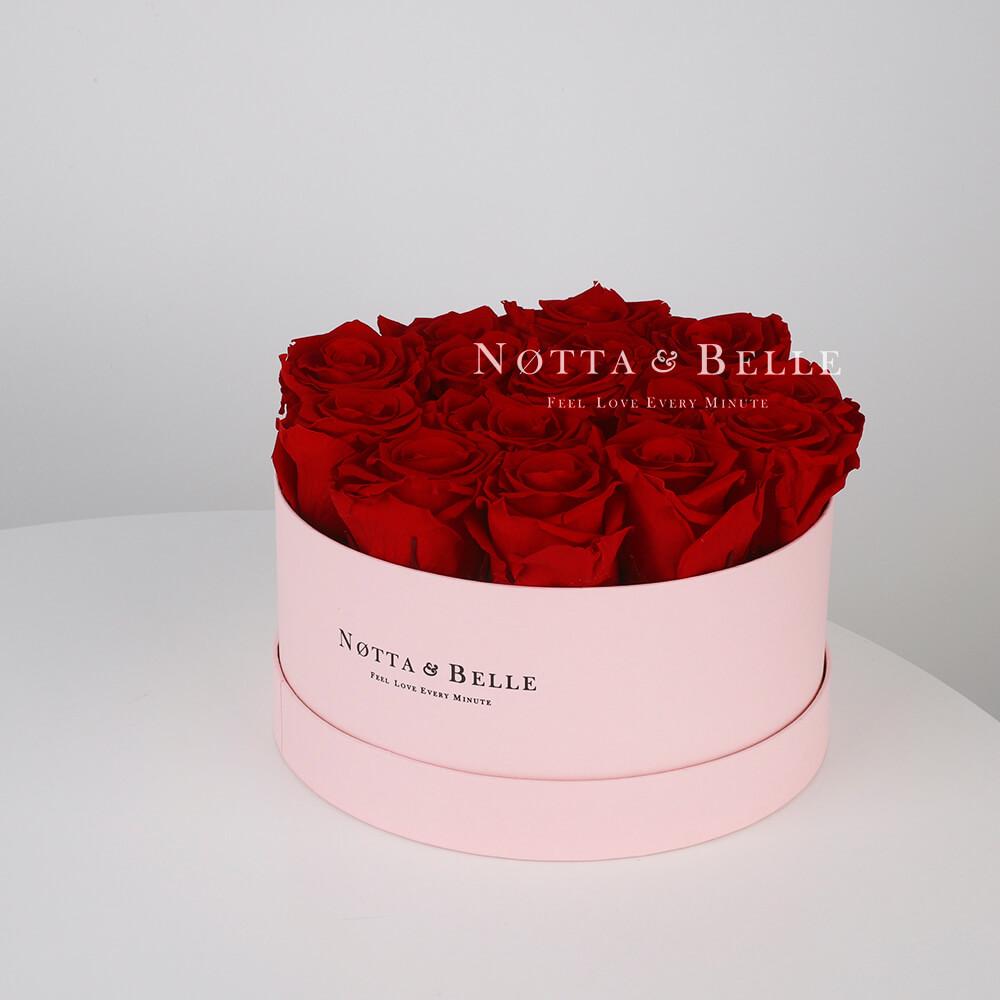 Долговечный букет из 15 бордовых роз - №1135
