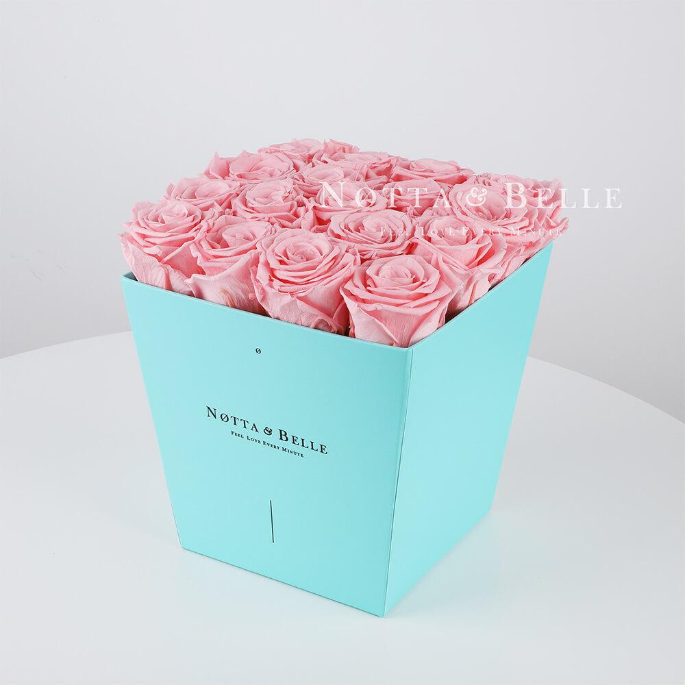 Долговечный букет №221 из розовых роз - 17 шт.