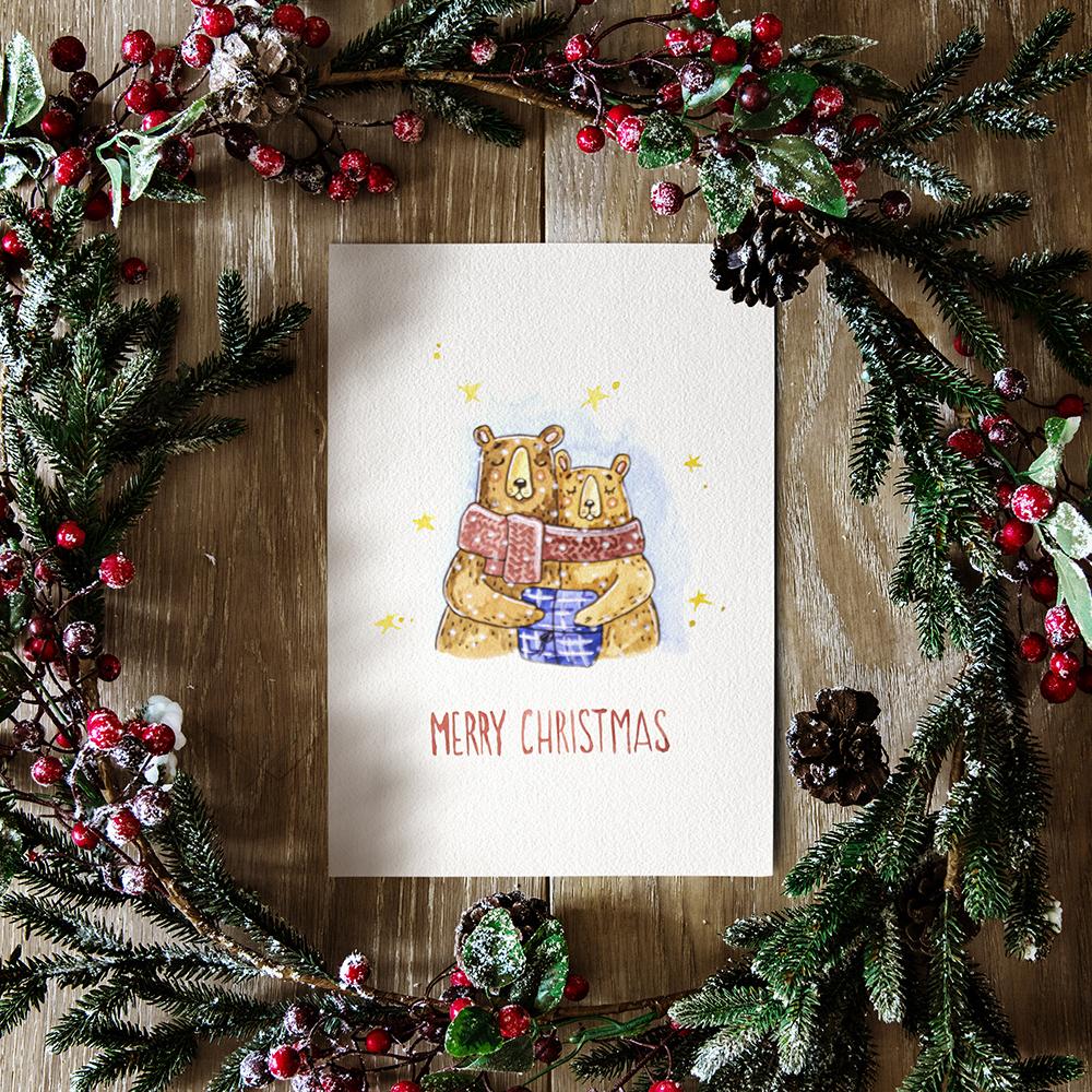Christmas greeting card №1