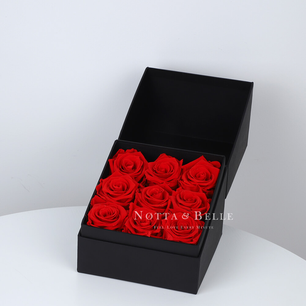 Dolgovechnyy buket iz 9 krasnyh roz - №1011 [copy] [copy]