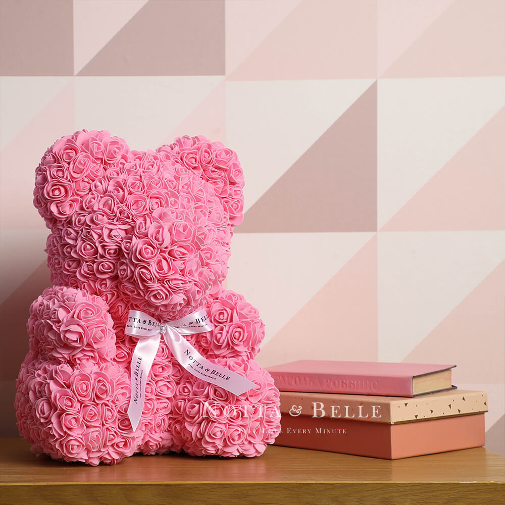 Rosa Bären aus den Rosen - 35 sm