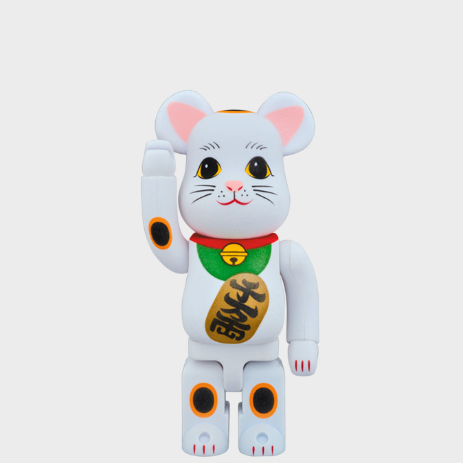 BEARBRICK CAT WHITE 400%