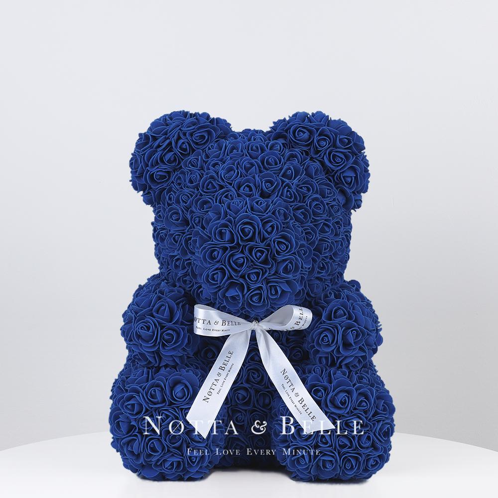 Dunkelblau Bären aus den Rosen - 35 сm