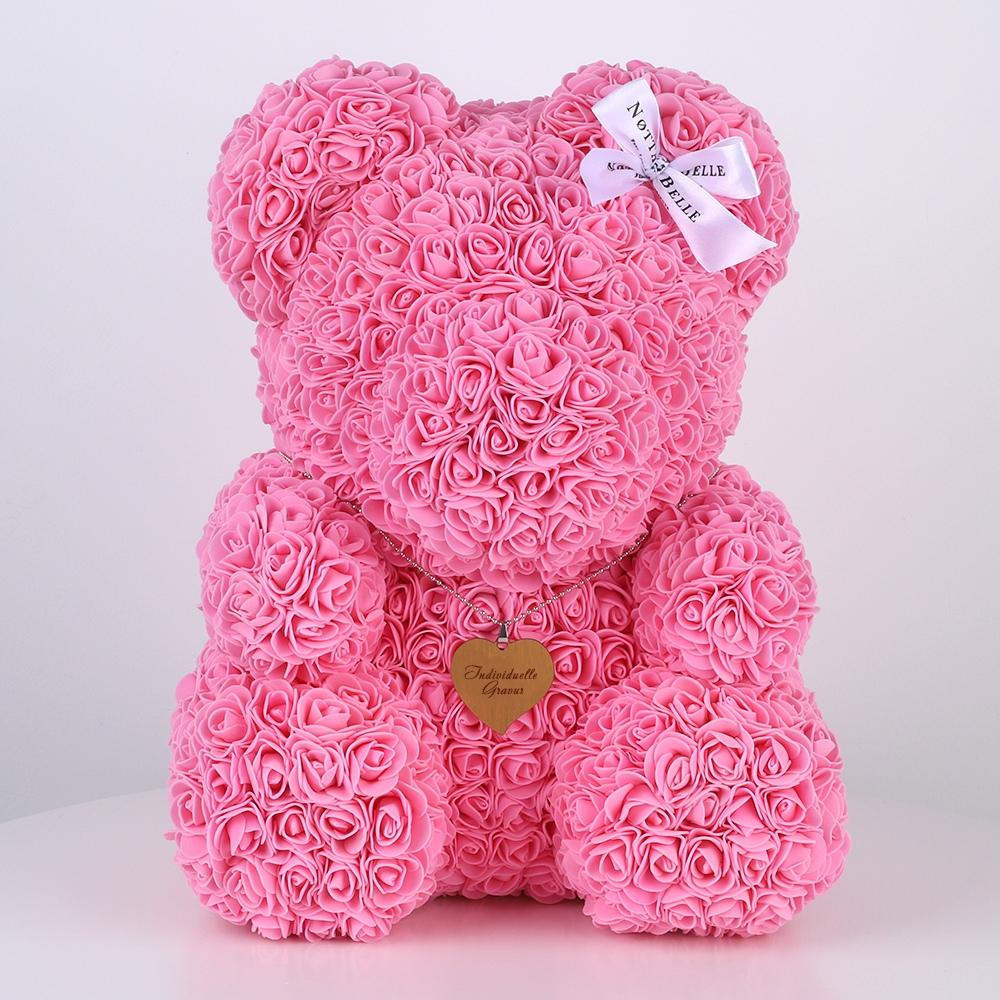 Individuelle Gravur für Bären aus Rosen