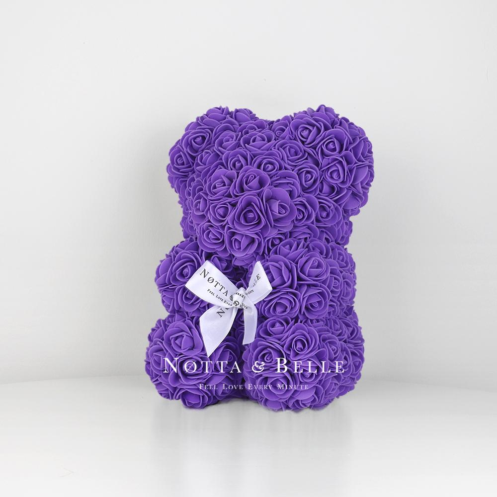 Purple Rosebear - 10 in.