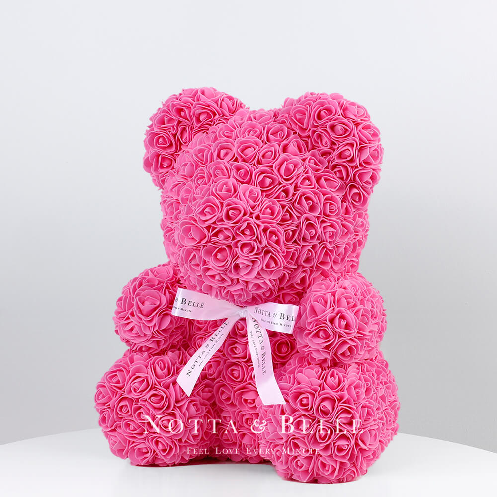 Rosa Bären aus den Rosen - 35 сm
