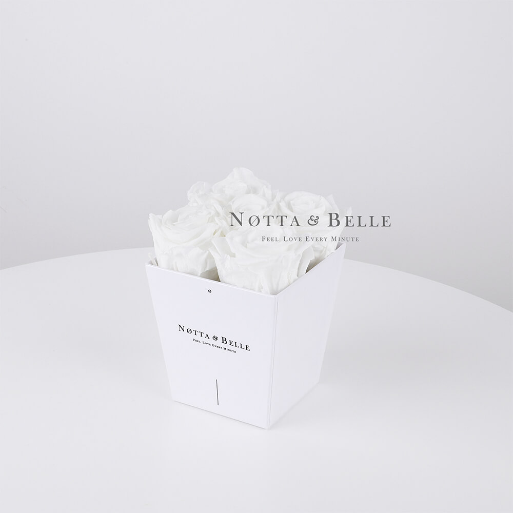 Bouquet blanche «Forever» - 5 roses