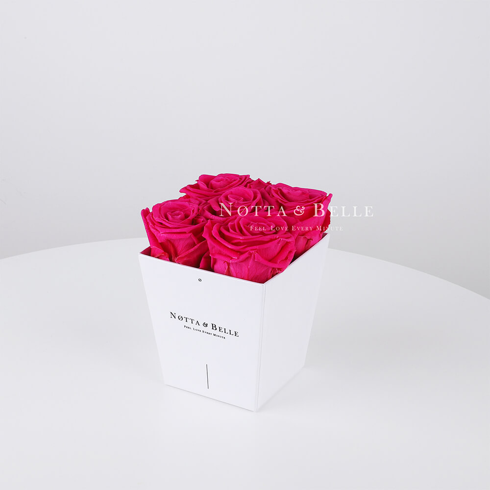 Bouquet rose vif «Forever» - 5 roses