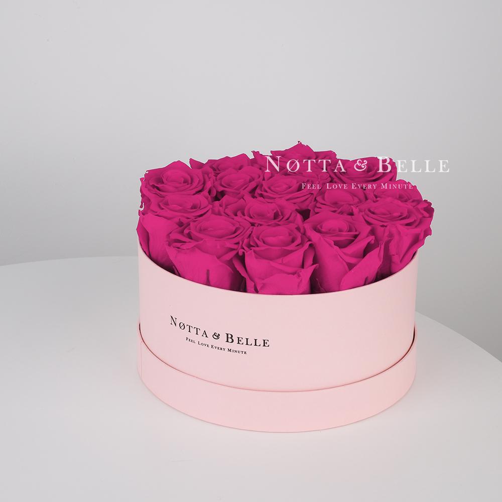 «Princess» de 15 roses couleur fuchsia