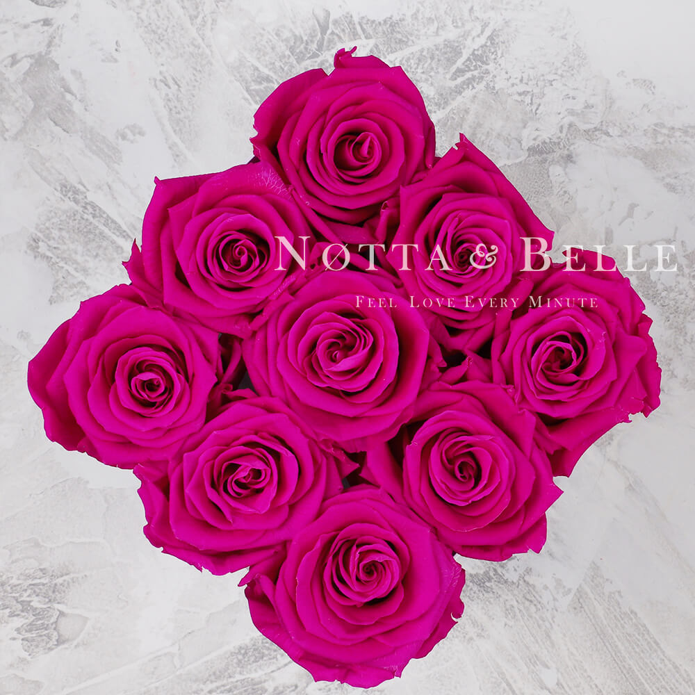 Bouquet couleur fuchsia «Romantic» - 9 roses