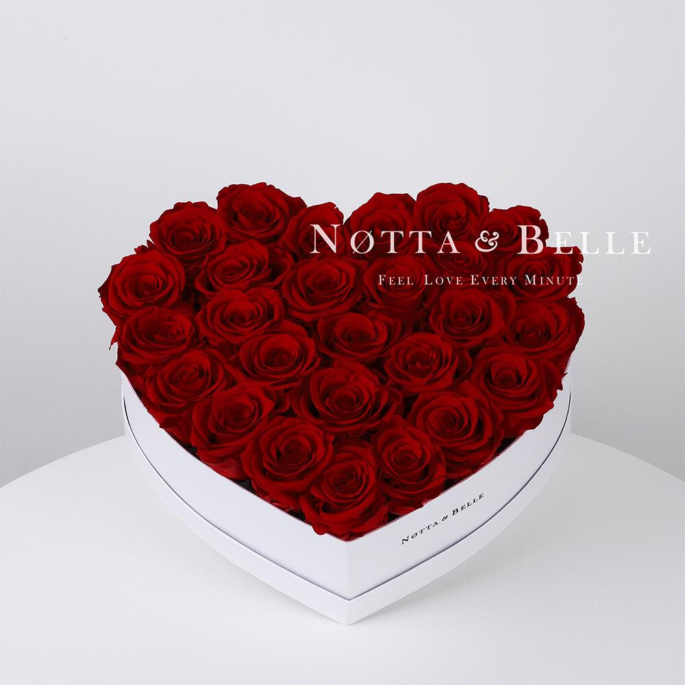 Долговечный букет из 27 бордовых роз - №961