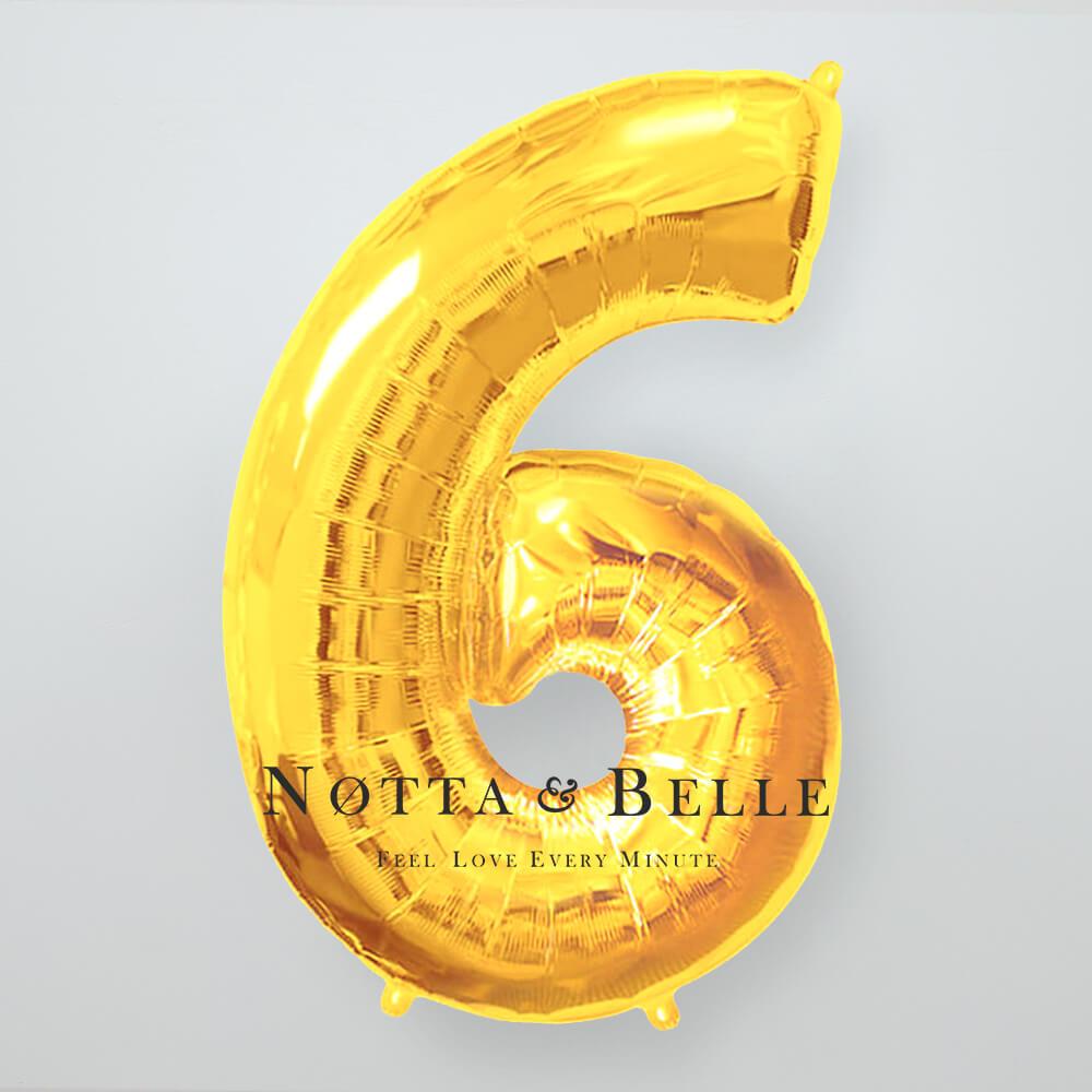 Шарик золотого цвета в виде цифры 6