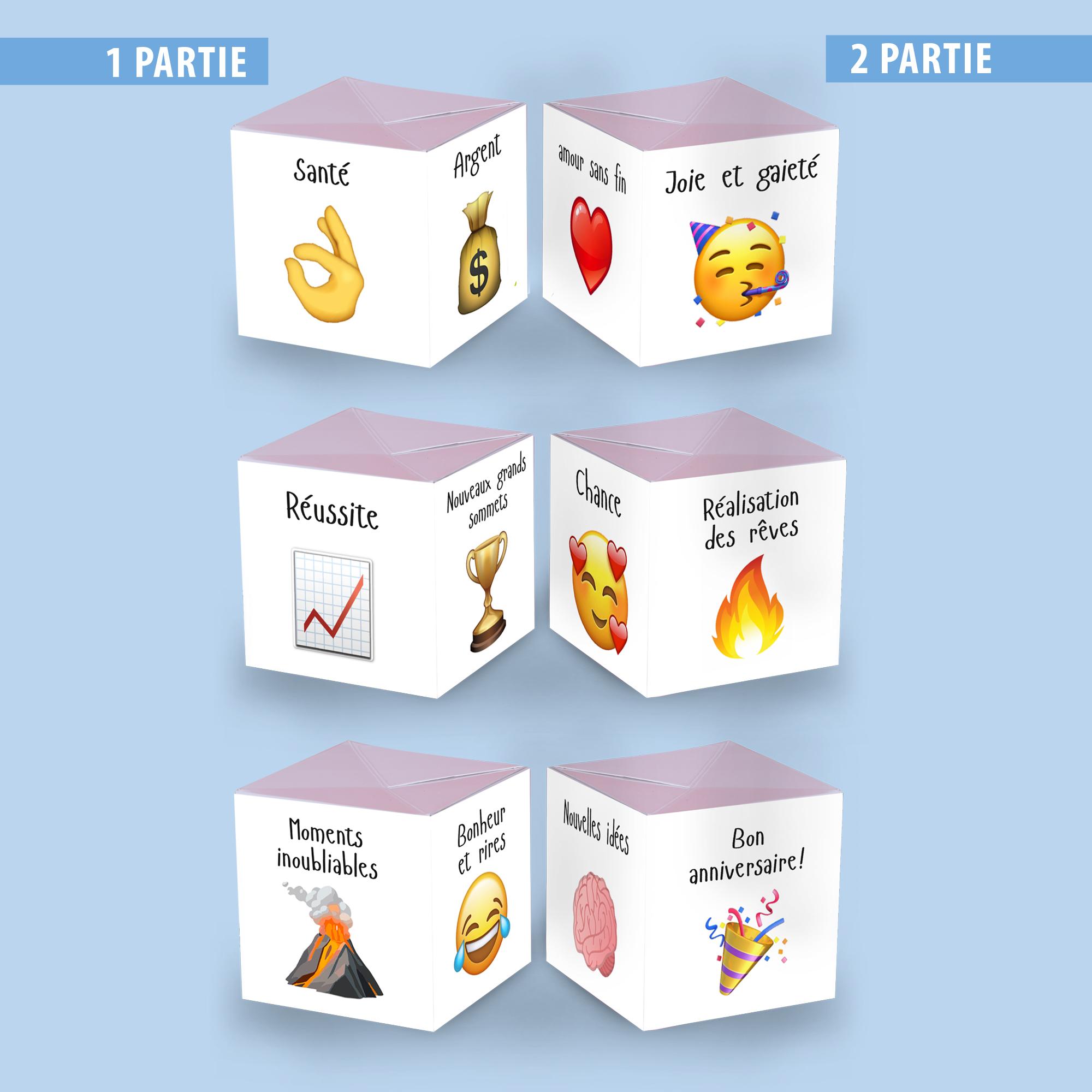 Cartes à explosion- ANNIVERSAIRE (3 cubes)