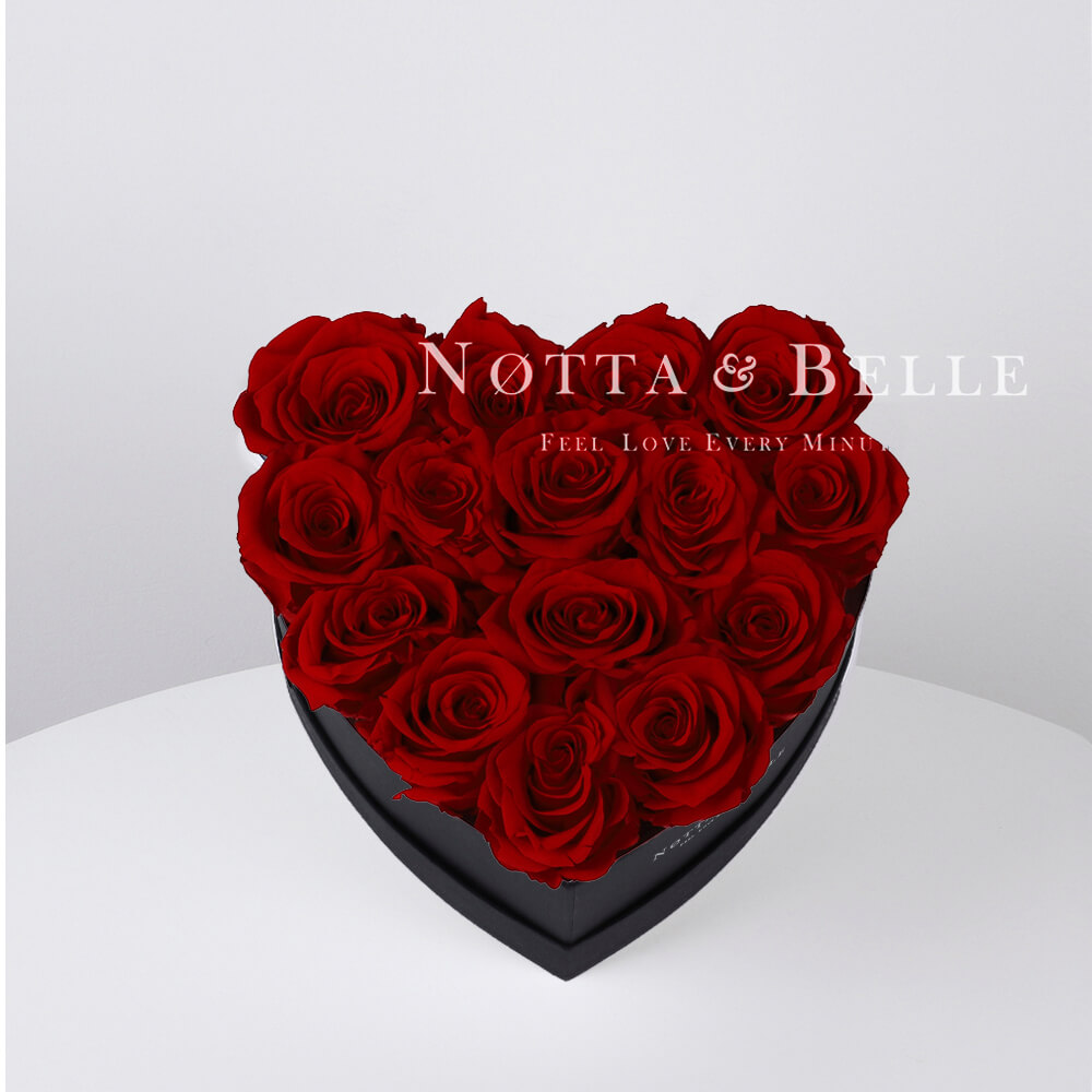 Долговечный букет из 15 бордовых роз - №862