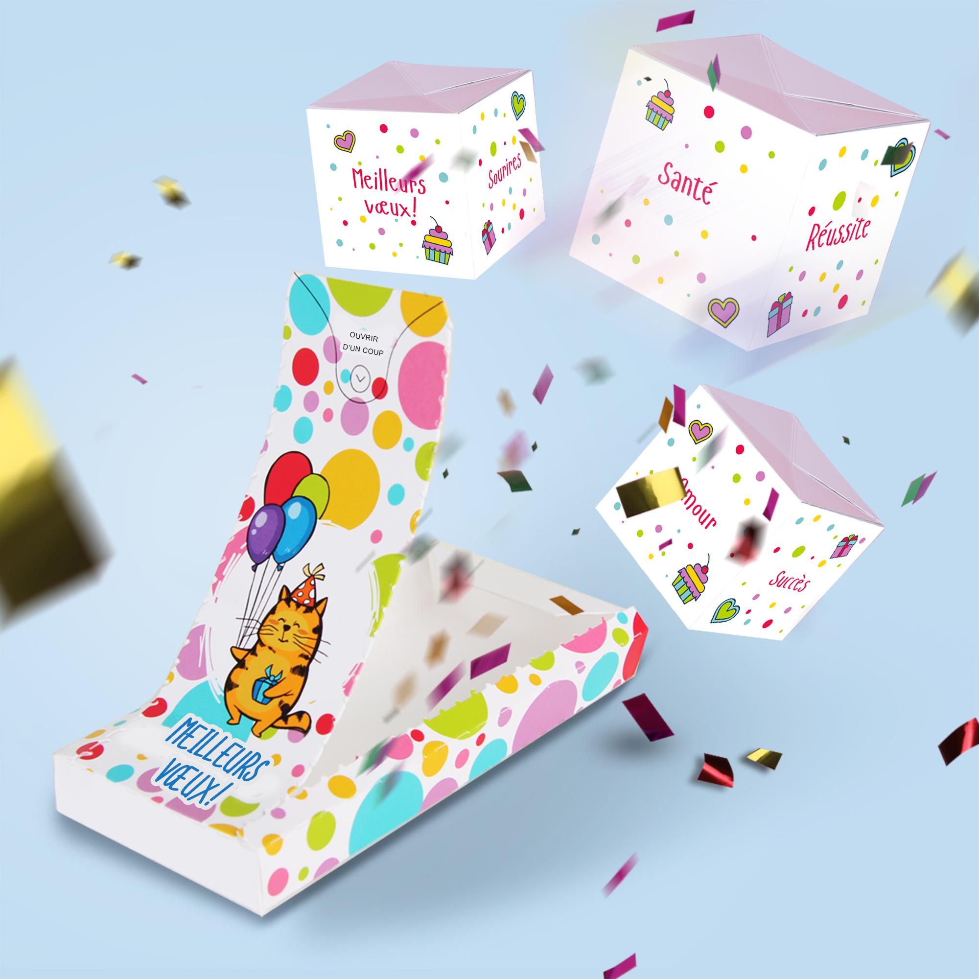 Cartes à explosion- Meilleurs Veux! (3 cubes)
