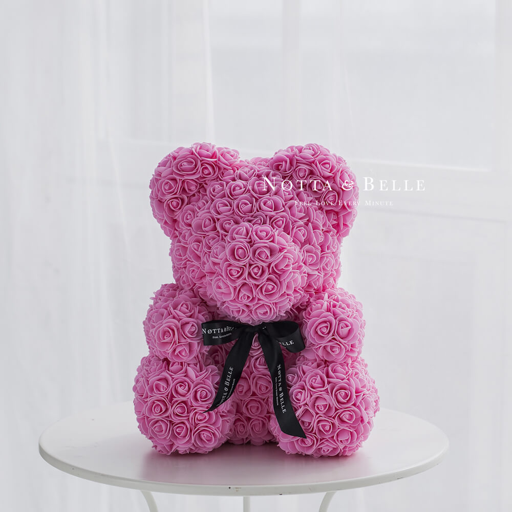 Pink Bears from roses - 40 сm