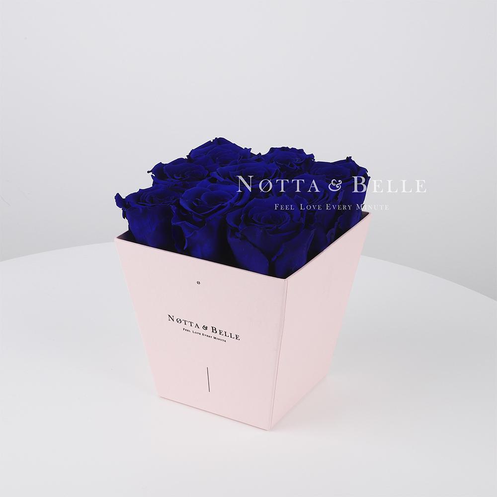 Долговечный букет из 9 синих роз - №135