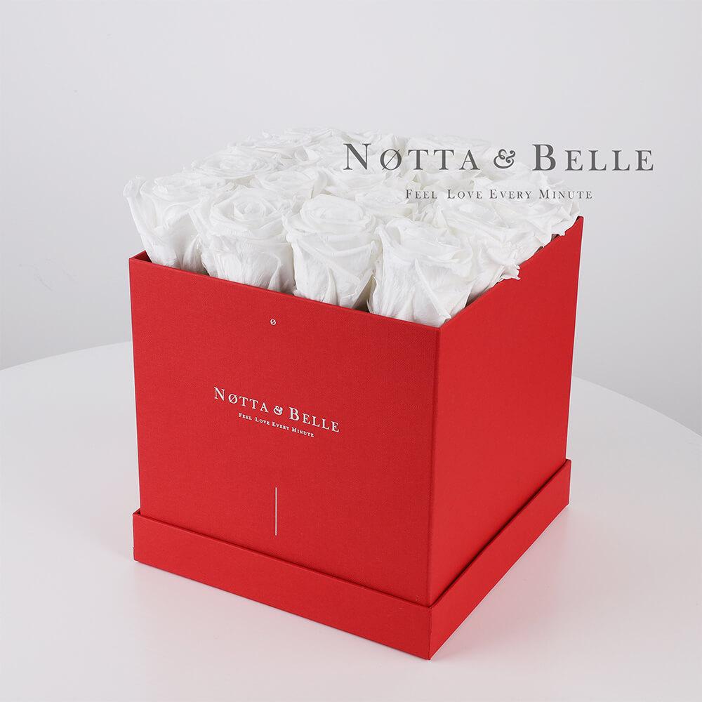Долговечный букет из 17 белых роз - №484