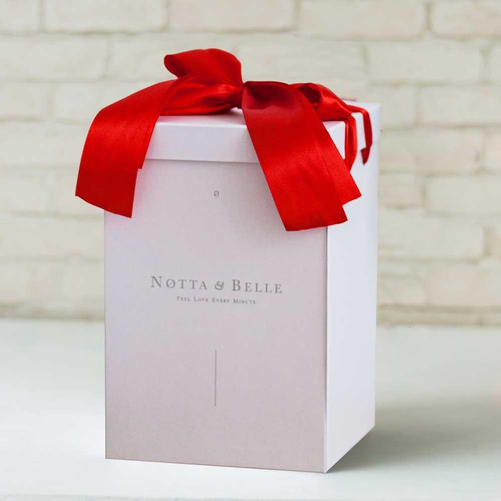Geschenkbox weiß für eine Rose im Glas