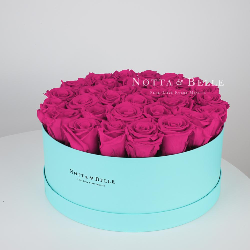 Долговечный букет из 29 роз цвета фуксии - №1223