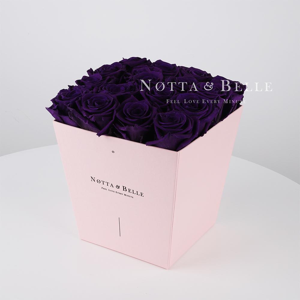 Долговечный букет из 17 фиолетовых роз - №255