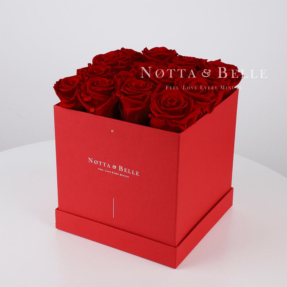 Долговечный букет из 17 бордовых роз - №464